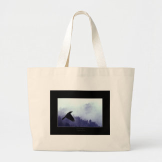 INTO THE MYSTIC Crow & Forest Tote Bag