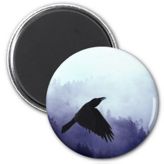 INTO THE MYSTIC Crow & Forest Magnet