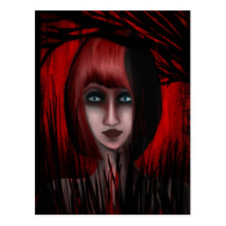Into The Red Forest Postcard