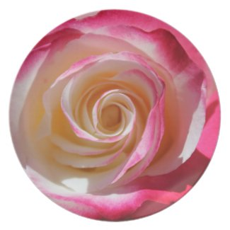 Into The Rose Pink Swirls Melamine Plate