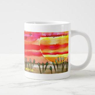 ...into the sun...art by Jutta Gabriel... Large Coffee Mug