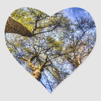 Into The Trees Heart Sticker