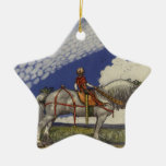 Into the Wide World by John Bauer 1907 Double-Sided Star Ceramic Christmas Ornament