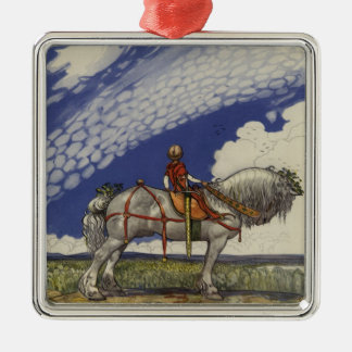Into the Wide World by John Bauer 1907 Metal Ornament