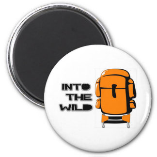 Into The Wild Backpack 2 Inch Round Magnet