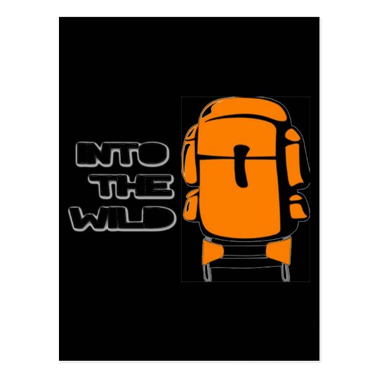 Into The Wild Backpack Postcard