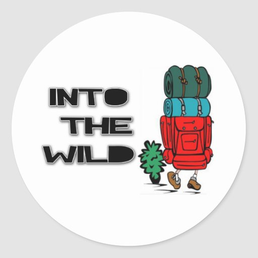 Into The Wild Backpacker Classic Round Sticker
