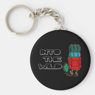 Into The Wild Backpacker Keychain