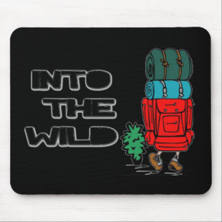 Into The Wild Backpacker Mouse Pad