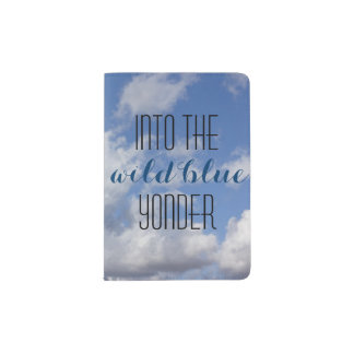 Into the wild blue yonder passport holder
