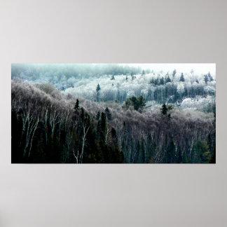 Into the Winter Hills I Print
