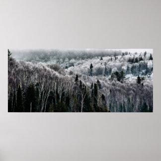 Into the Winter Hills II Print