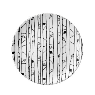 Into the Woods black Porcelain Plate small