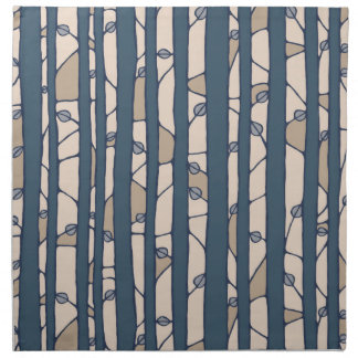 Into the Woods blue Cloth Napkins