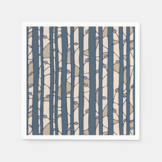 Into the Woods blue Paper Napkins