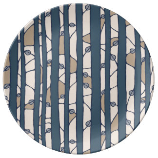 Into the Woods blue Porcelain Plate