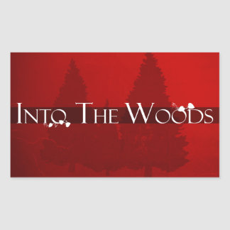 Into the Woods Fairy Tale Forest Scene Rectangular Sticker