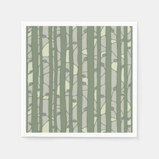 Into the Woods green Paper Napkins