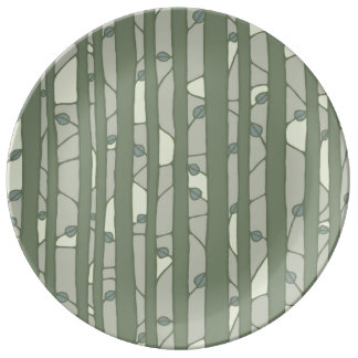 Into the Woods green Porcelain Plate