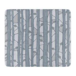 Into the Woods grey Glass Cutting Board