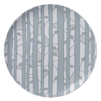 Into the Woods grey Melamine Plate