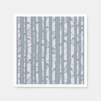 Into the Woods grey Paper Napkins