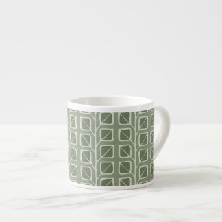 Into the Woods Leaves green Espresso Mug