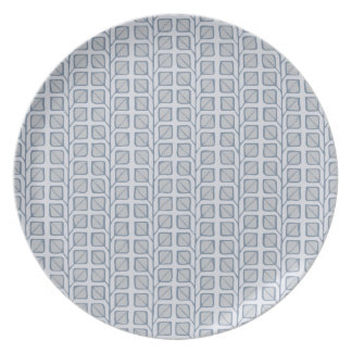 Into the Woods Leaves grey Melamine Plate
