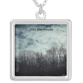 Into the woods silver plated necklace