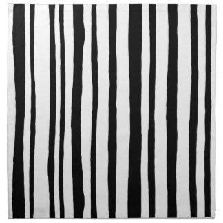 Into the Woods Stripes black Cloth Napkins