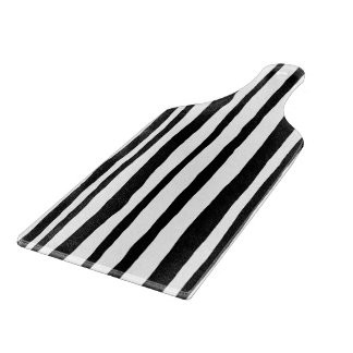 Into the Woods Stripes black Glass Cutting Paddle Cutting Board