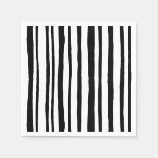 Into the Woods Stripes black Paper Napkins
