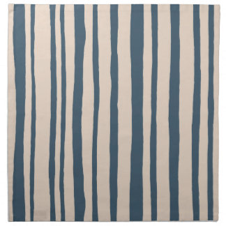 Into the Woods Stripes blue Cloth Napkins