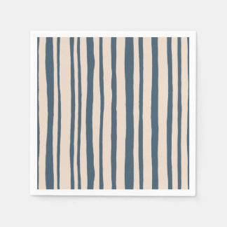 Into the Woods Stripes blue Paper Napkins