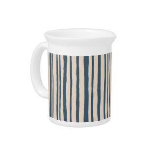 Into the Woods Stripes blue Pitcher