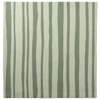 Into the Woods Stripes green Cloth Napkins