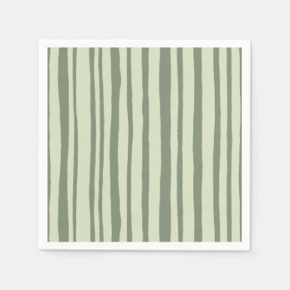 Into the Woods Stripes green Paper Napkins