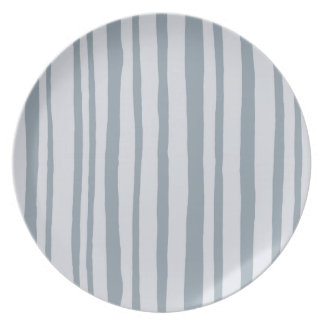 Into the Woods Stripes grey Melamine Plate