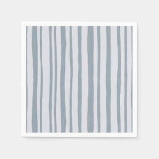Into the Woods Stripes grey Paper Napkins