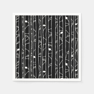 Into the Woods white Paper Napkins
