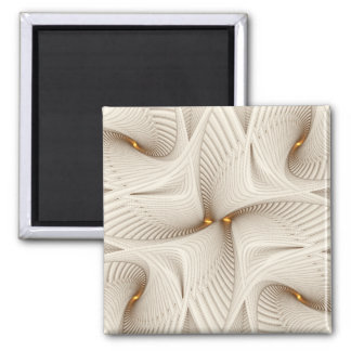 Into White 2 Inch Square Magnet