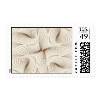Into White Postage Stamps