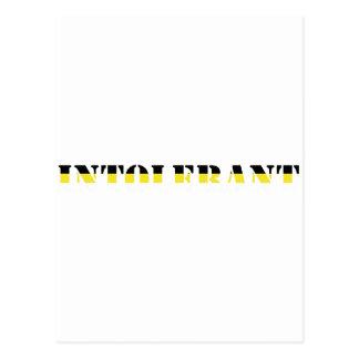 intoleran t-shirt post card