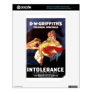 Intolerance 1916 decal for NOOK color