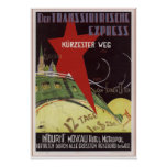 """Intourist. Transsiberian express"" USSR 1930 Posters"