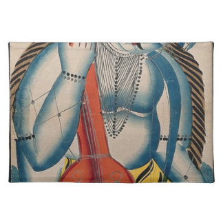 Intoxicated Shiva Holding Lamb Cloth Placemat