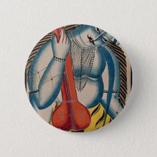 Intoxicated Shiva Holding Lamb Pinback Button