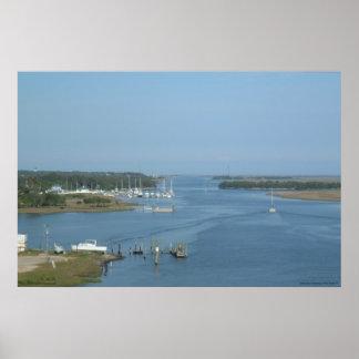 Intracoastal Waterway at Oak Island, NC - print