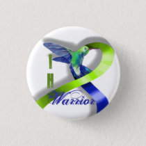 Intracranial Hypertension Warrior Pinback Button