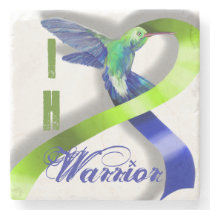 Intracranial Hypertension Warrior Stone Coaster